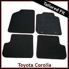 Toyota Corolla Mk9 / E120 E130 2001-2007 Tailored Fitted Carpet Car Mats BLACK