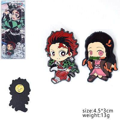 WerNerk Anime Enamel Brooch Demon Slayer Kimetsu no Yaiba Enamel Badges Button Pin Cosplay Brooch for Anime Fans