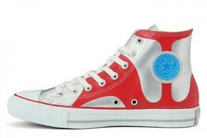 241dd97b6f10 JAPAN CONVERSE All Star ULTRAMAN R HI SILVER RED 2016 Limited 50th ...
