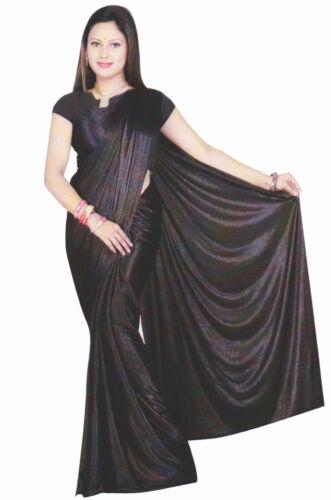 Trendofindia Aubergine Bollywood Sari Viscose