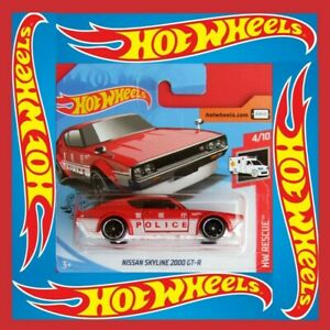 HW Rescue 160 HOT WHEELS 2019 Nissan Skyline 2000 GT-R neu in OVP