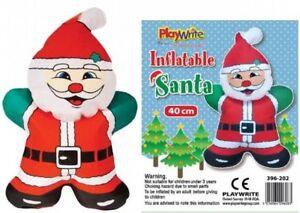 Babbo Natale 40 Cm.Babbo Natale Gonfiabile 40cm Natale Divertente Giocattolo Noveltyparty Calza Filler Decorazione Ebay
