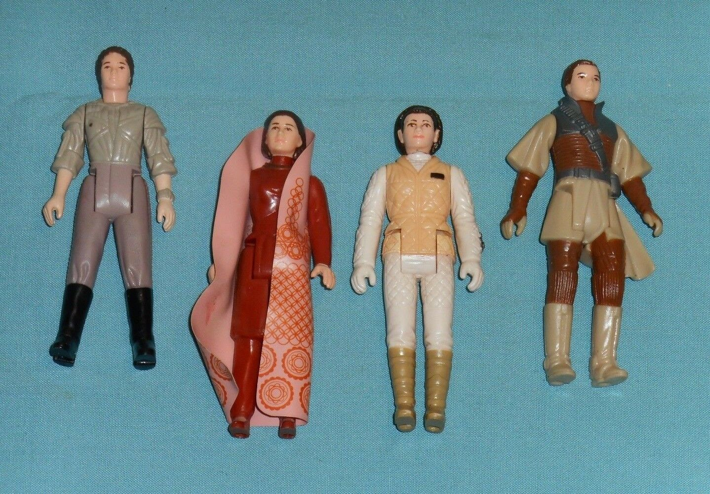 Vintage STAR WARS FIGURE LOT  114 Leia Bespin Hoth Boushh Combat Poncho
