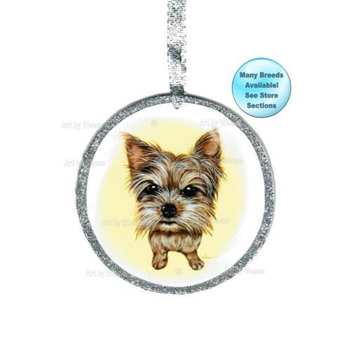 Yorkshire Terrier Ornament Yorkie Art Dog Memorial Christmas Tree Ornament