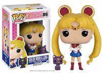 Funko Pop Anime : Sailor Moon With Luna Vinyl Action Figure on sale
