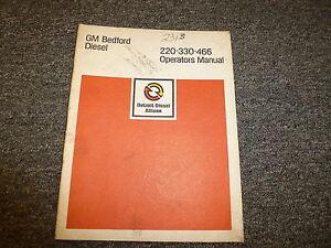 detroit diesel allison bedford gm 220 330 466 engine owner operator rh ebay com Richland Hills Engine Richland Hills Engine