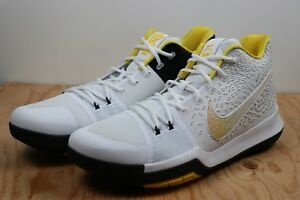 big sale 98c20 e0988 Details about Nike Kyrie 3 III N7 Yellow Maize White Black Basketball Shoes  New Mens Size 17