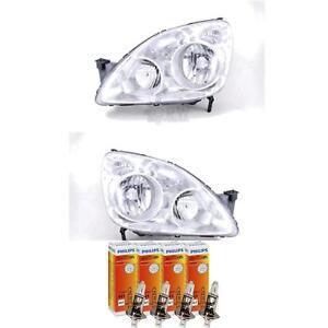 Halogen-Headlight-Set-for-Honda-Cr-V-RD8-Built-08-04-09-06-H1-H1-with-Indicator