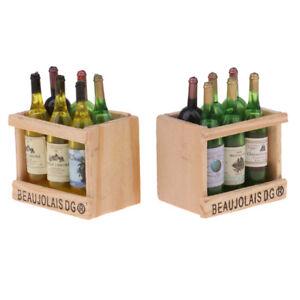 Bottiglie Di Vino In Miniatura E Supporto In Legno Mobili Per Casa