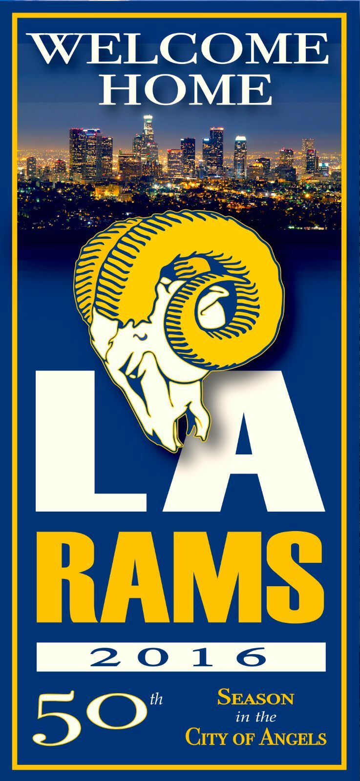 La Rams Welcome Home 2 Los Angeles Vinyl Adhesive Wall Decor Poster ...