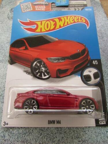 Hot Wheels 2016 #189//250 BMW M4 Rouge Longue Carte