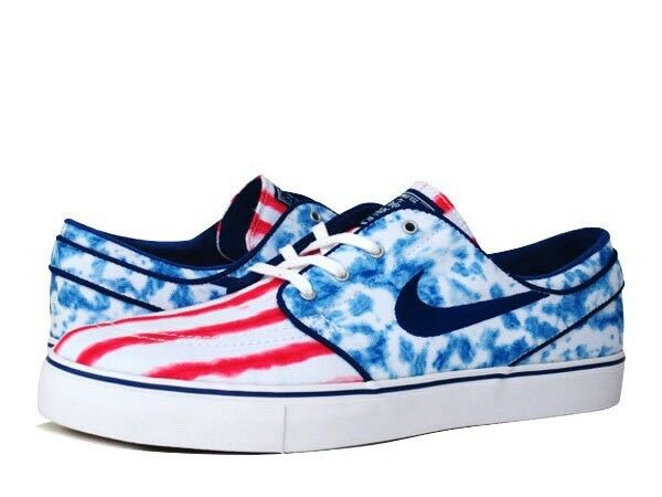 Nike Zoom Stefan Janoski PRM USA Independence Day July 4th Olympic Men's 8 Shoes