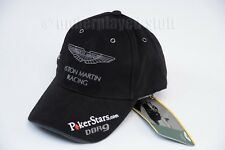 ASTON MARTIN RACING POKERSTARS BASEBALL CAP HAT BLACK CORDUROY NEW NWT ~ L@@K!!