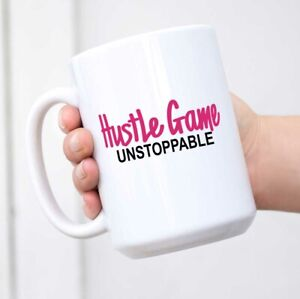 Hustle Game Birthday For Women and Boss Lady Coffee Mugs For Women