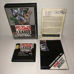Sega-Genesis-Game-MUTANT-LEAGUE-FOOTBALL-Complete-in-Box-CIB-Manual-Box-POSTER
