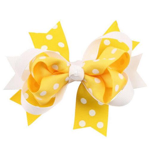 Kids Girls Baby JoJo Glitter Shiny Sequin Bowknot Hair Clip Hair Bow Hairpin Lot