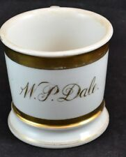 Guerin Limoges Wedding Ring Gold Shaving mug W.P.Dale Monogram