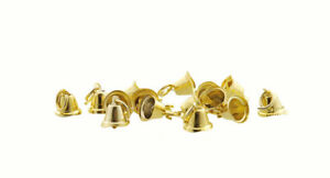 Lot-Of-10-Mini-Bells-Style-Bells-Golden-0-5-16in-For-Decoration-Creatifs-Hobbies