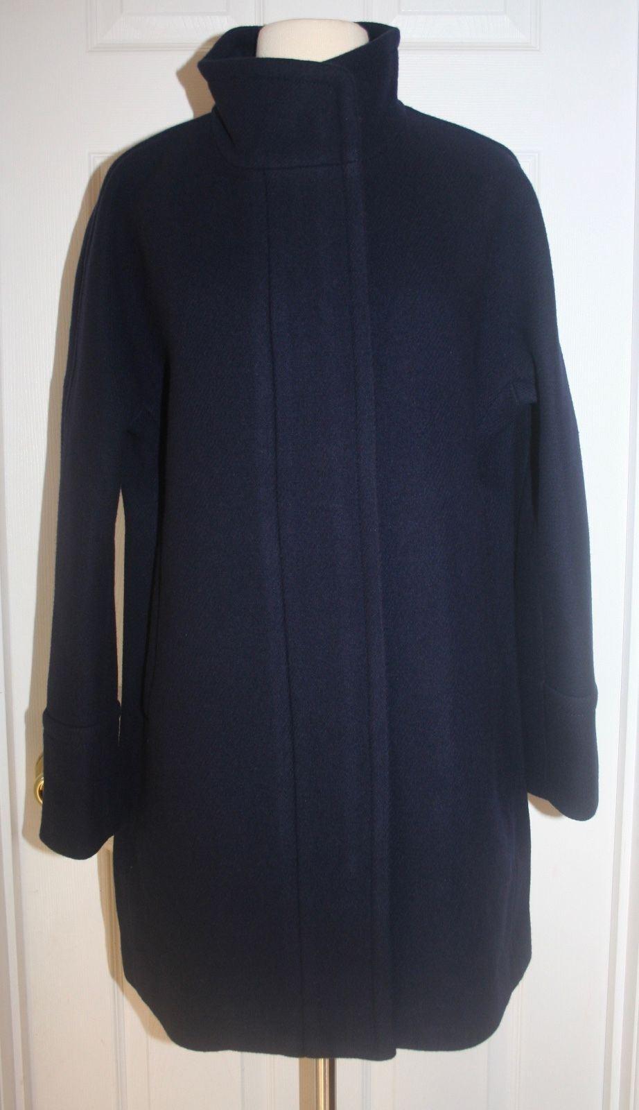 J.Crew Petite Italian Stadium-Cloth Wolle Kokon Mantelgröße P12