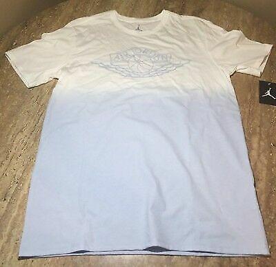 326b9a4606931 Nike Men's Size L Air Jordan Fadeaway Faded T-shirt Aq8031-100 White/ice  Blue for sale online   eBay