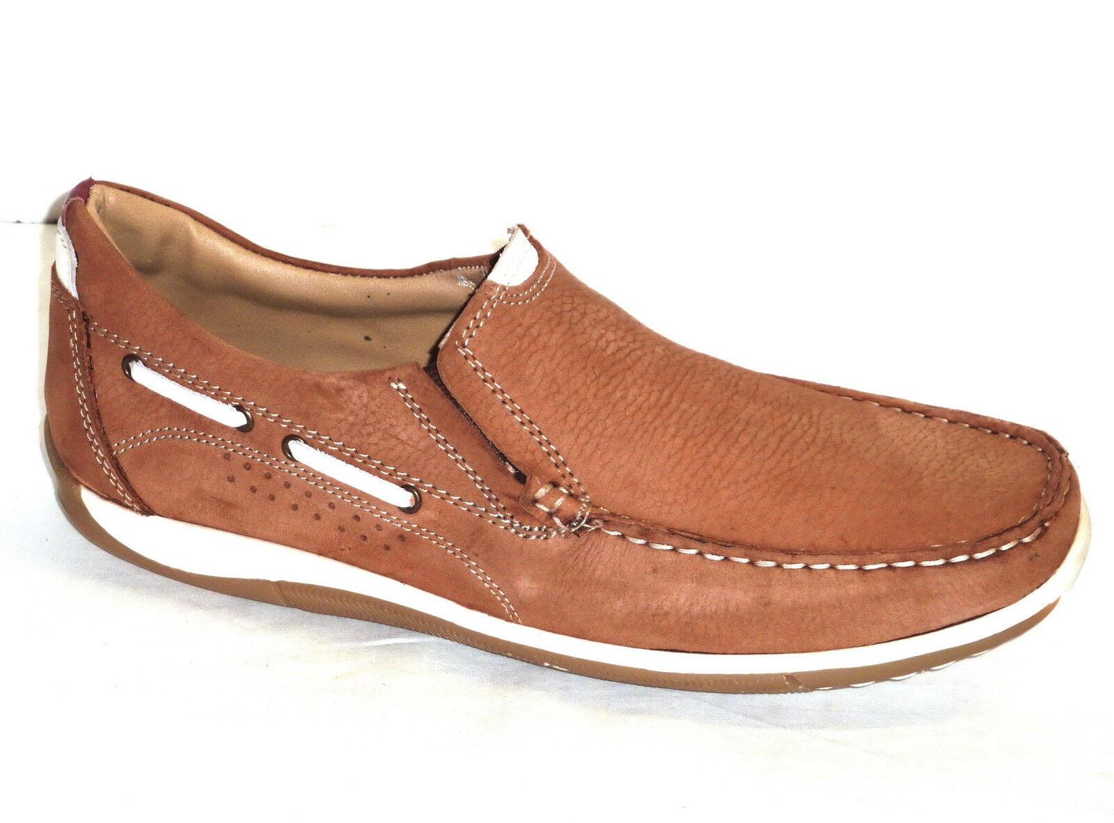 shoes men MOCASSINO ESTATE CASUAL TEMPO LIBERO PELLE NABUK brown n. 41