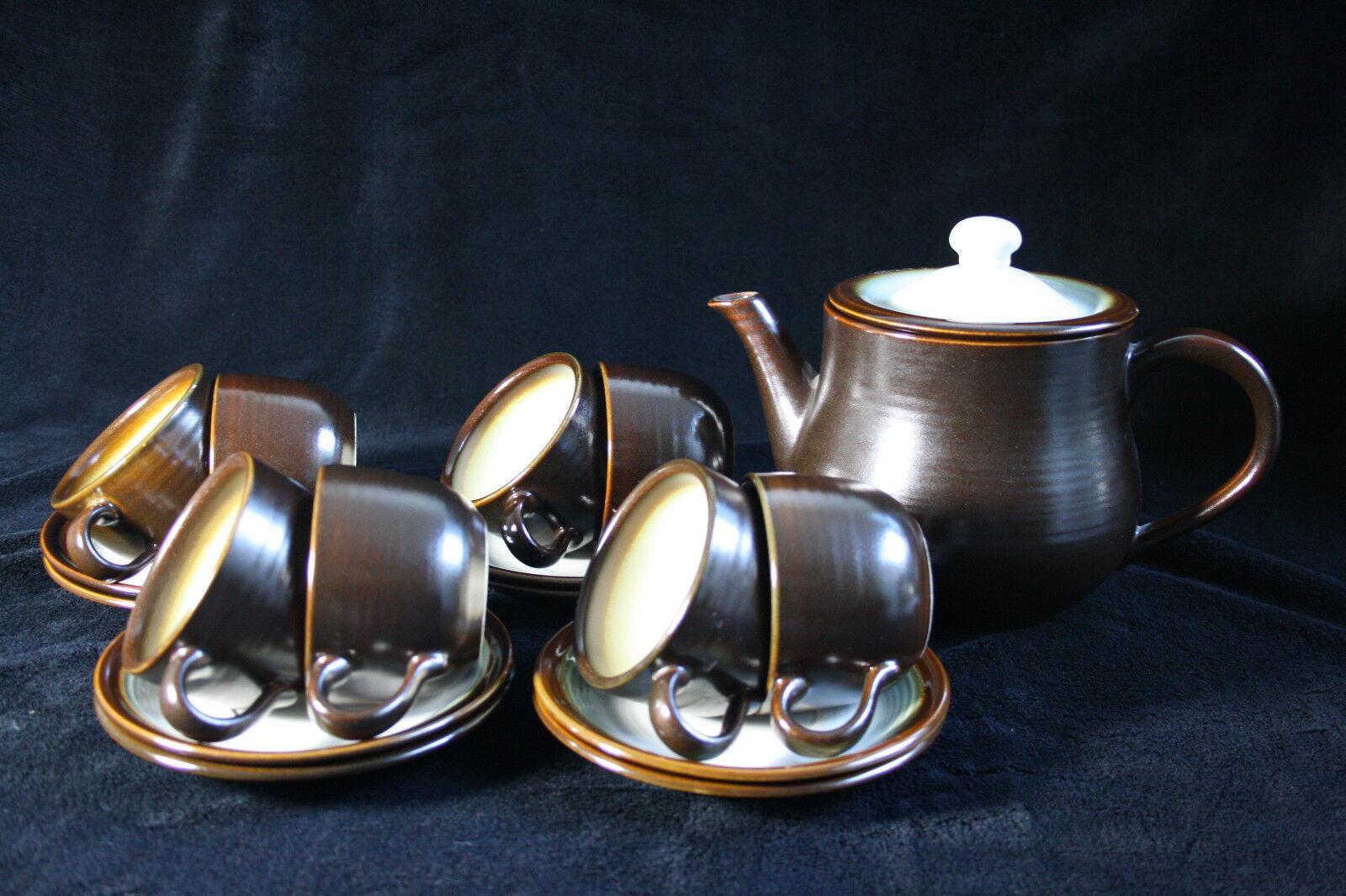 Vintage 18-piece tea set Franciscan Chestnut, Made in England