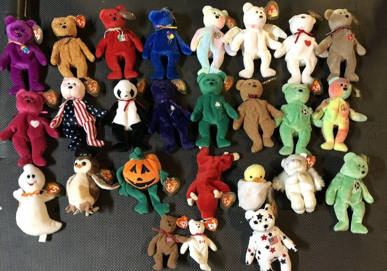 TY BEANIE BABIES ORIGINAL WITH TAGS - Lot Including Rare ONES   ERIN PRINCESS DI