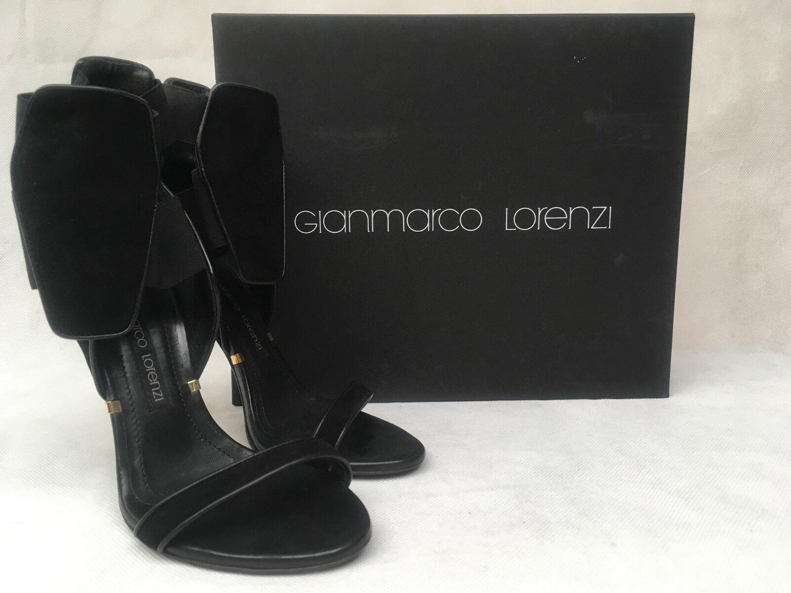 Gianmarco Lorenzi Leather Black Heels. P5D6F0023. Various Sizes.