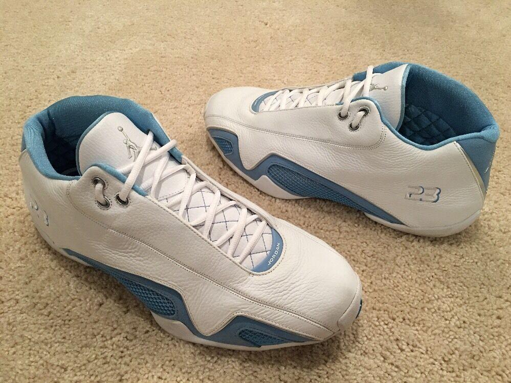 Nike Air Jordan 21 XXI Low OG Original White University Blue Size 15 Nero Red