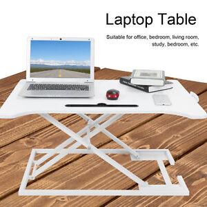 Bureau assis debout réglable poste assis debout support ordinateur table ordi FR