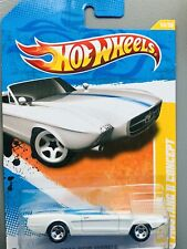 14//244 HOT WHEELS FOR REAL CARD 2011 HOT WHEELS NEW MODELS 14//50 BLUE CONVERTIBLE 63 FORD MUSTANG II CONCEPT