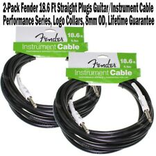 FENDER 5 ft Straight Performance Instrument Guitar 8mm Cable Cord Logo NEW