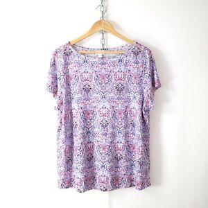 j-jill-love-linen-paisley-knit-linen-tee-t-shirt-top-L-large-boho-soft-comfy