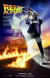 """Back To The Future - 11/"""" x 17/"""" e Ready Player One movie poster"""