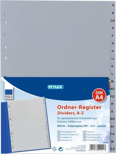 Stylex 42921 Register A4 PP Taben grau A-Z