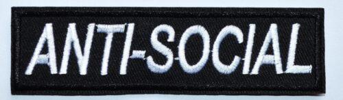 100x Anti-Social Punk Rock Band Music Heavy Metal Logo Iron On Patch ≈13*2.7 cm