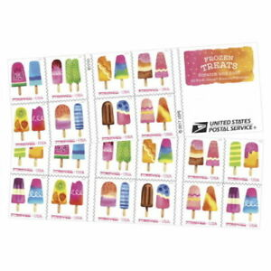20 USPS STAMPS 2018 FROZEN TREATS First Scratch & Sniffs Forever 1 Booklet