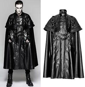 gothic punk rave kutschermantel herren mantel umhang. Black Bedroom Furniture Sets. Home Design Ideas