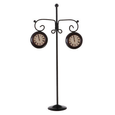 Dolls House Clock Pole Furniture Outdoors Garden Decor 1//12 Toy Metal Craft