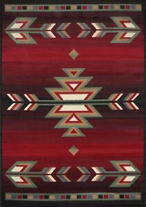 Southwest-Contemporary-Area-Rug-2x8-Runner-Black-Carpet-Actual-1-039-10-034-x-7-039-3-034