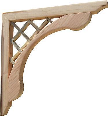 Handcrafted Designer Wooden Corbels Brackets for Pergola & Porch, 2-Pack