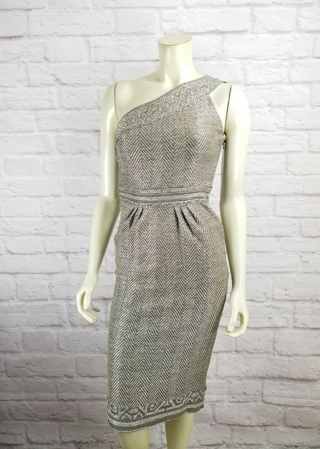 DVF Diane Von Furstenberg Furstenberg Furstenberg Sirabe One Shoulder Textured Dress Size 2 Nwt  595 1b6792