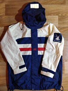 Helly-Hansen-Match-Race-Sailing-Parka-90-039-s-Jacke-Windbreaker-mit-Kapuze-Hip-Hop