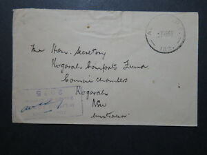Australia-1943-Stampless-FPO-Cover-Censor-Light-Creases-Z10724