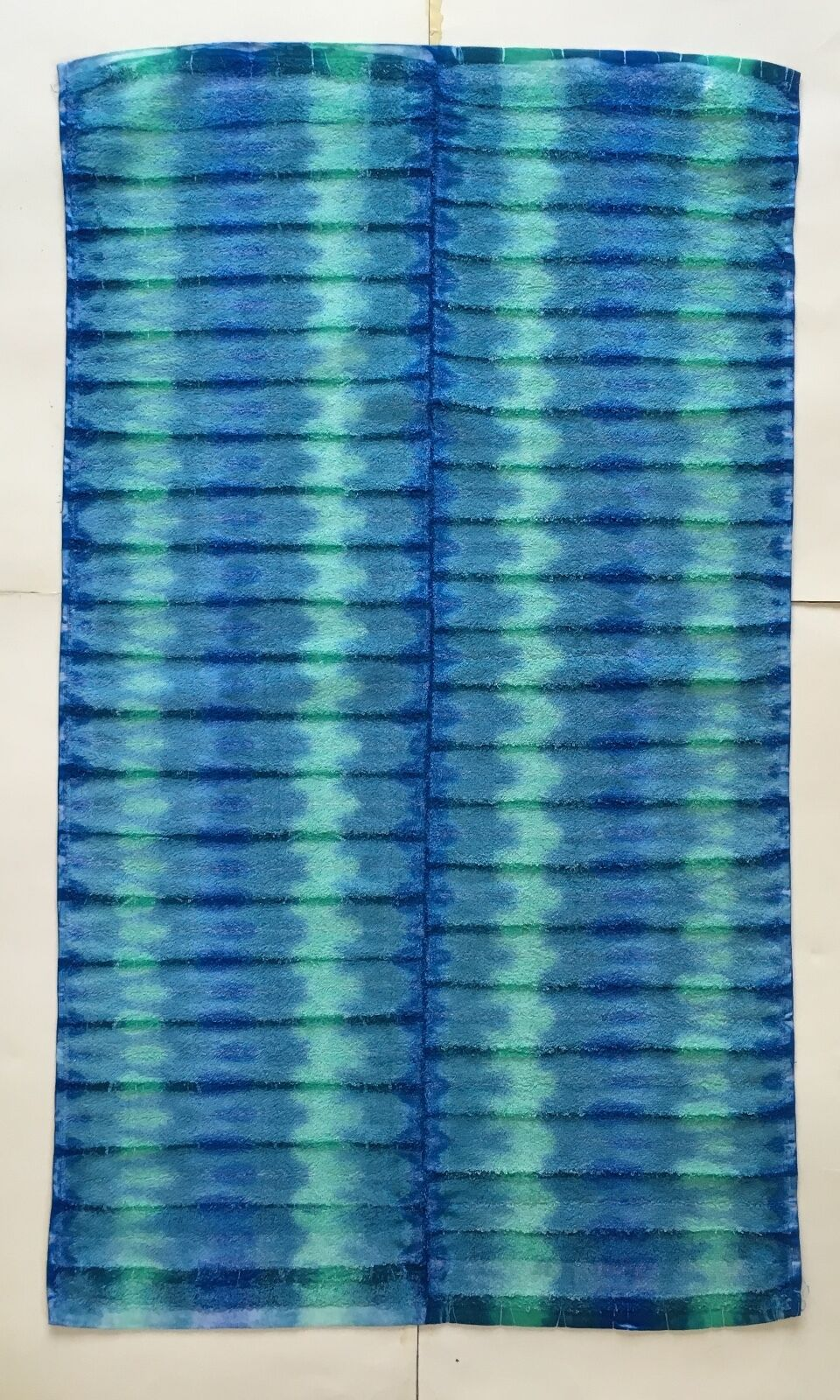 *New* Handmade Tie Dye Vertical Blues Washcloth Hand, Bath Towel, Single or Set