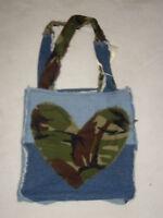 Handmade Jenniwren Originals Love Hearts shoulder shopping bag tote . Valentine