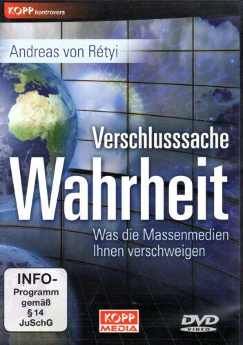 1 von 1 - VERSCHLUSSSACHE WAHRHEIT - Andreas von Retyi DVD - KOPP Verlag