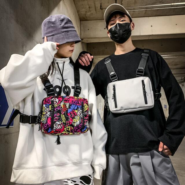 Oxford Crossbody Chest Bag Men Women Hip Hop Streetwear Vest Waist Packs Purse
