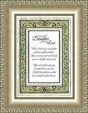 """7"""" x 9"""" Tabletop or Wall Framed Art Print  For My Daughter with Lovewith Verse"""