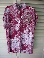 Lord & Taylor Shirt Tropical/ Beaded Size S/p Runs Big
